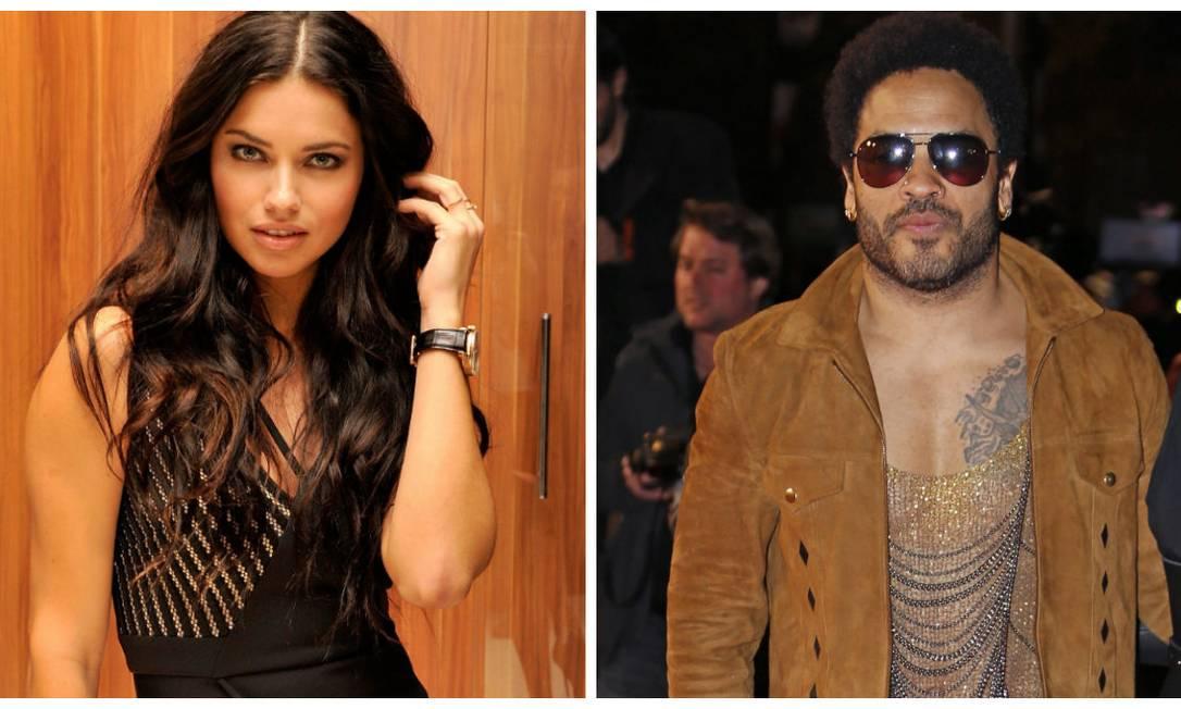 Adriana Lima também está na lista. A top namorou com o cantor Lenny Kravitz. Mas diz que se casou virgem com Marko Jaric Montagem com fotos AP e REUTERS