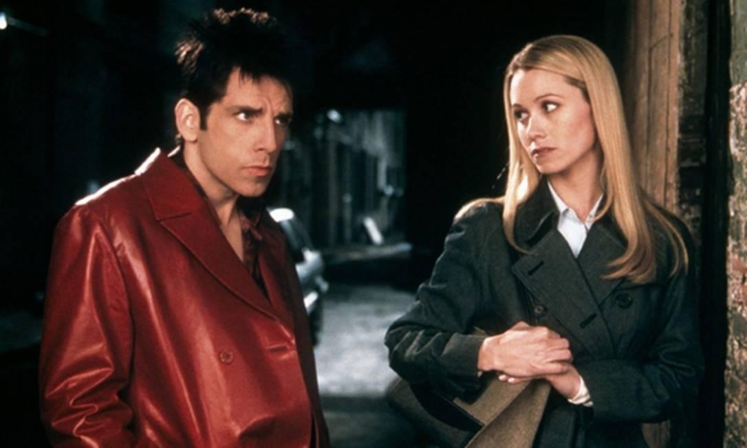 """Ben Stiller e Christine Taylor se conheceram em 1999 na gravação de um piloto para uma série que nunca foi ao ar. O casamento aconteceu um ano depois e, em 2001, foram felizes também nas telas do filme """"Zoolander"""" Divulgação"""