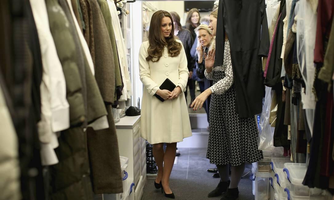 A duquesa deve ter adorado conhecer a sala de figurino POOL / REUTERS