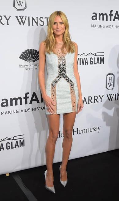 A apresentadora alemã Heidi Klum protegeu as pernas por R$ 4 milhões Michael loccisano / AFP
