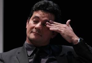 O juiz federal Sérgio Moro se defendeu das críticas Foto: Michel Filho / Agência O Globo