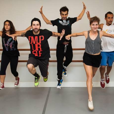 A aula do coreógrafo Filipi Escudine no Espaço Vibre Foto: Barbara Lopes / Agência O Globo