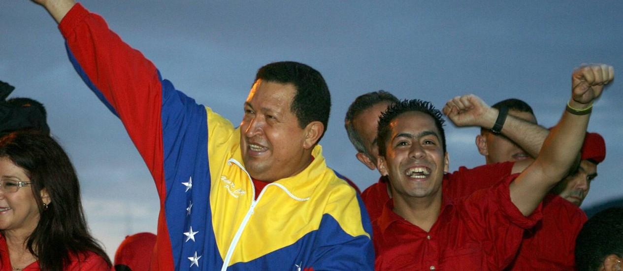 O presidente venezuelano Hugo Chávez durante a última campanha, em 2012. Ele morreu no ano seguinteFoto: HO / AFP