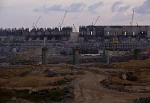Obras na usina de Belo Monte, em dezembro de 2014 Foto: Dado Galdieri / Bloomberg
