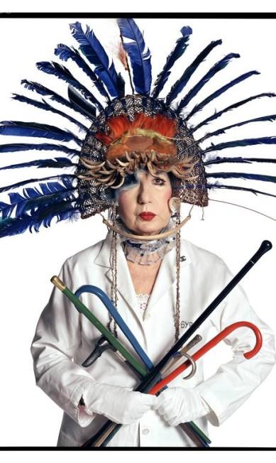 A editora de moda Anna Piaggi, em 2002. Anna morreu em 2012 David Bailey