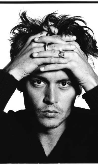 Johnny Depp, em 1995 David Bailey