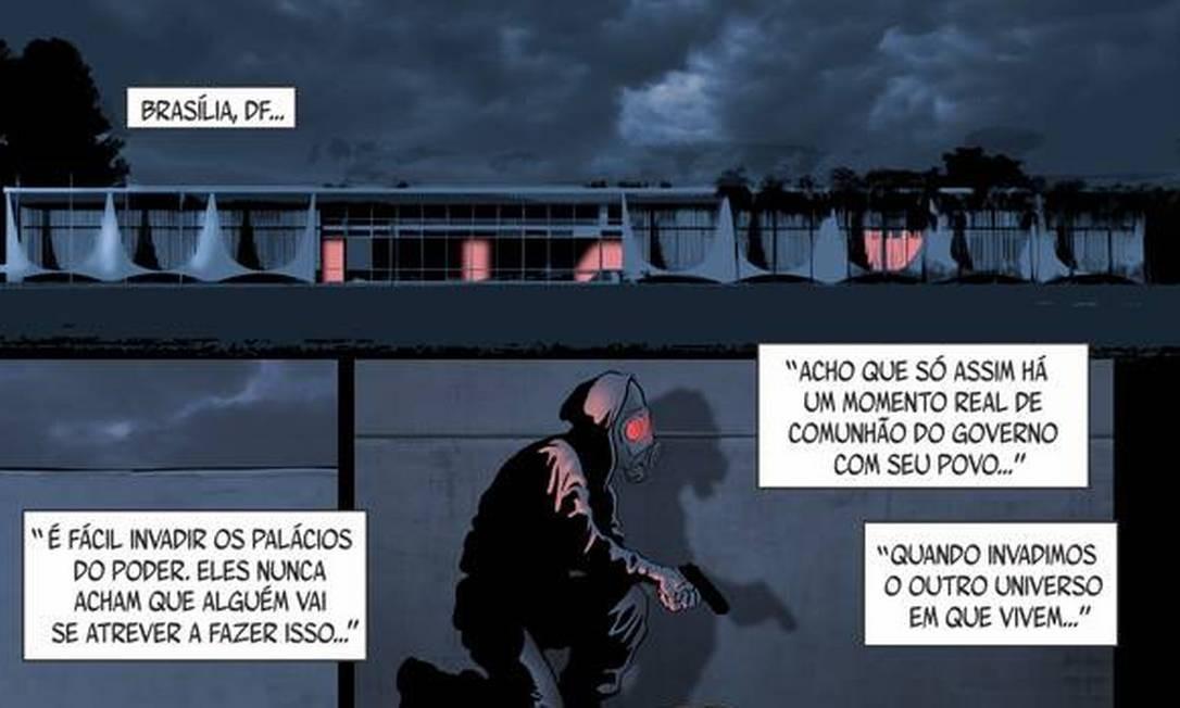 Palácio do Planalto, sede do Poder Executivo, aparece no segundo livro do personagem Foto: Reprodução