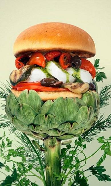 Até alcachofra virou ingrediente de hambúrguer nas mãos da dupla Reprodução Fat & Furious Burger
