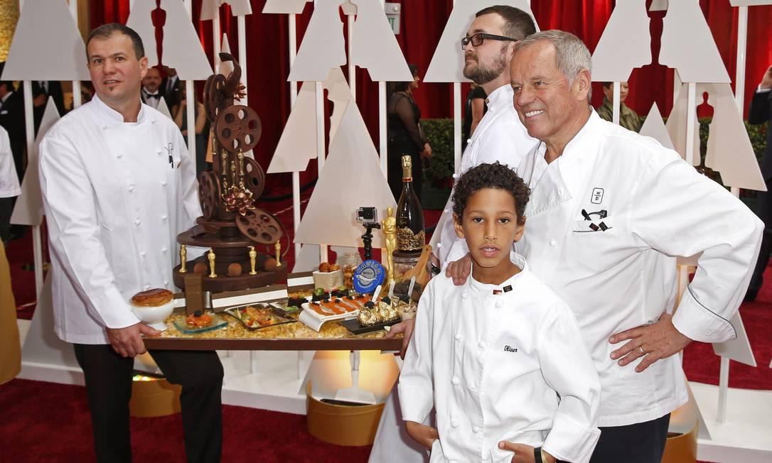 Os comes e bebes preparados pelo chef Wolfgang Puck LUCAS JACKSON / REUTERS