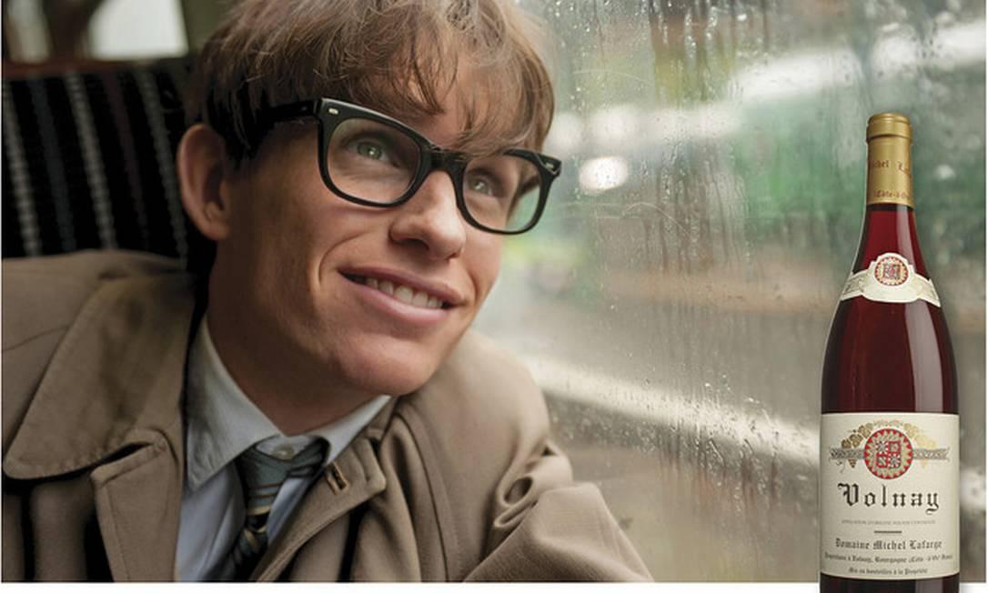 """""""A teoria de tudo"""" conta a história de notável batalha de Stephen Hawking com a doença e é profundamente comovente. Merece um vinho com nuances, como o Domaine Michel Lafarge Volnay, de 2011, que está à altura do desafio. Reprodução"""