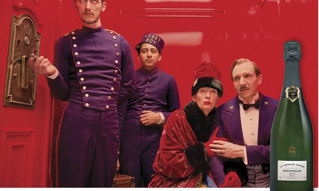 """Ambientado na década de 1930 na Europa, """"Budapeste"""", o filme de Wes Anderson, combina com o Bollinger Grand Année, de 2004. Para combinar com os personagens excêntricos. Beba-o lentamente Reprodução"""