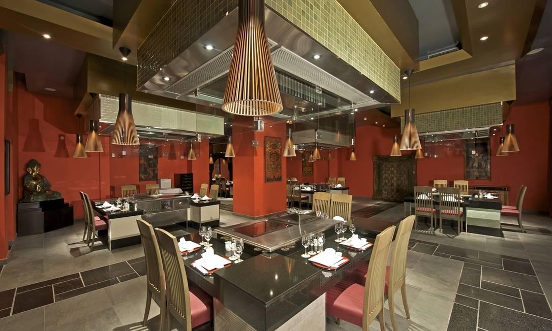 Restaurante japonês, um dos vários presentes no resort Divulgação