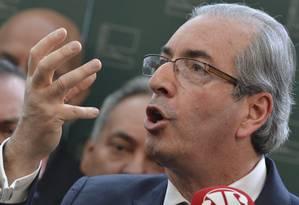 Presidente da Câmara, Eduardo Cunha, anuncia rompimento com o governo Foto: Agência Brasil / Antonio Cruz