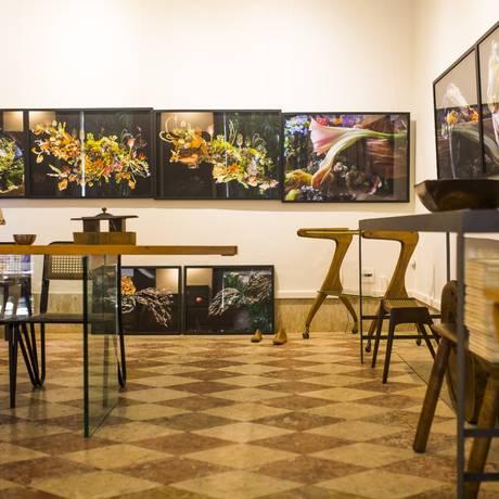Obras de Analu Prestes e móveis assinados por designers brasileiros na galeria Duolhar Foto: Fabio Seixo/Agência O Globo