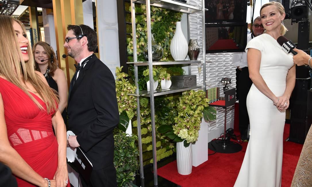 Sofía Vergara e Reese Witherspoon: encontro de amigas e muitos sorrisos John Shearer / John Shearer/Invision/AP