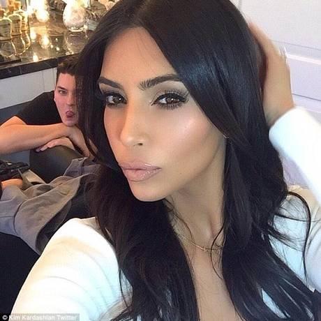 Kim e seu fiel escudeiro Foto: Kim Kardashian / Instagram