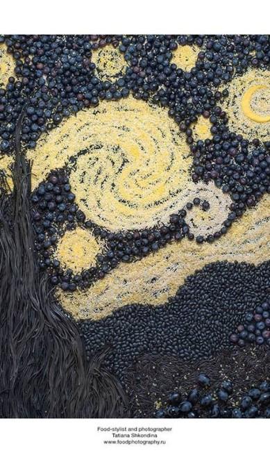"""""""A noite estrelada"""", de Van Gogh, também não podia faltar Tatiana Shkondina"""