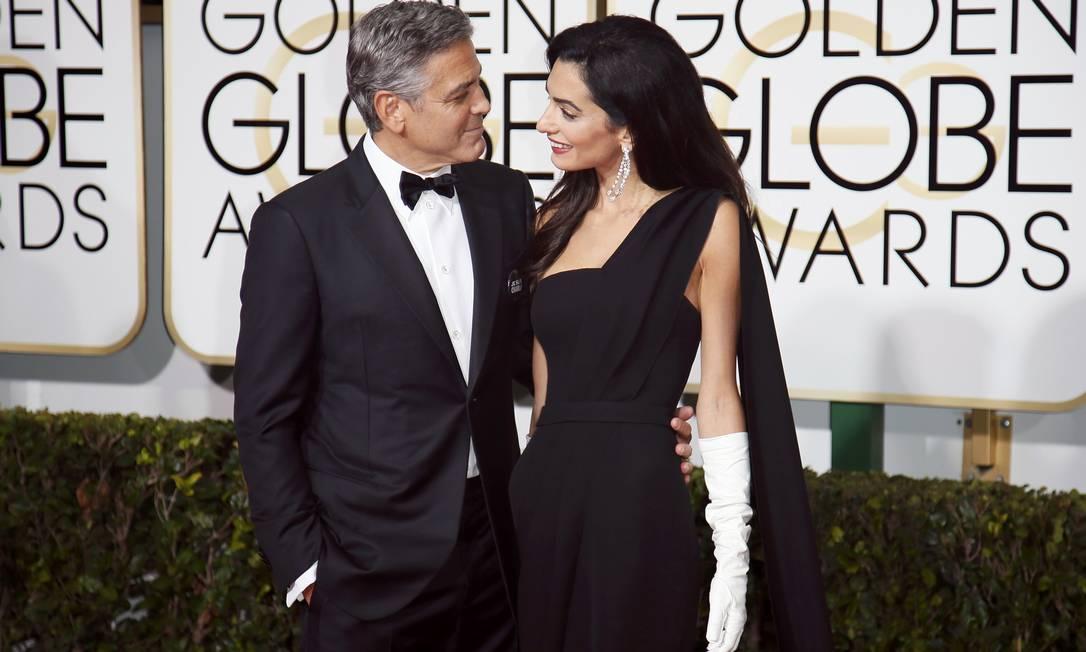 Mais de George e Amal Clooney no red carpet DANNY MOLOSHOK / REUTERS