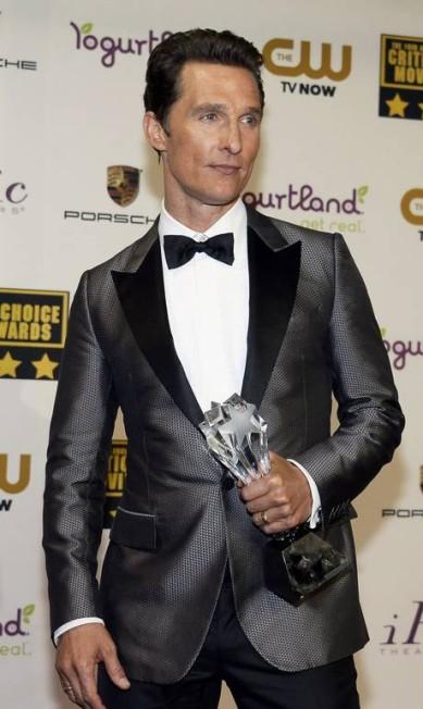 O ator Matthew Mcconaughey, marido da top brasileira Camila Alves, já foi limpador de galinheiro durante um intercâmbio na Austrália KEVORK DJANSEZIAN / REUTERS