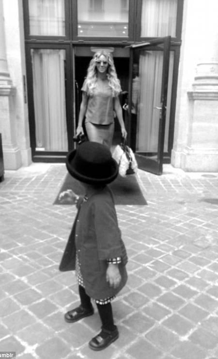Tal mãe, tal filha: a pequena vestida para impressionar em um passeio com a mãe Foto: © Beyonce/tumblr