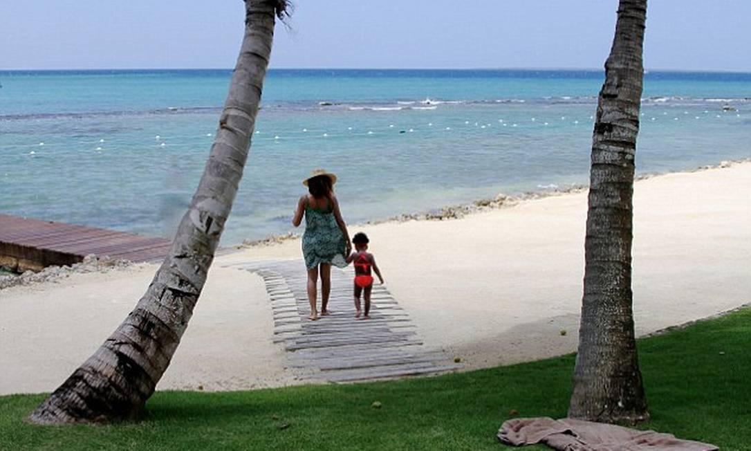 A caminho do mar em férias no Caribe © Beyonce/tumblr