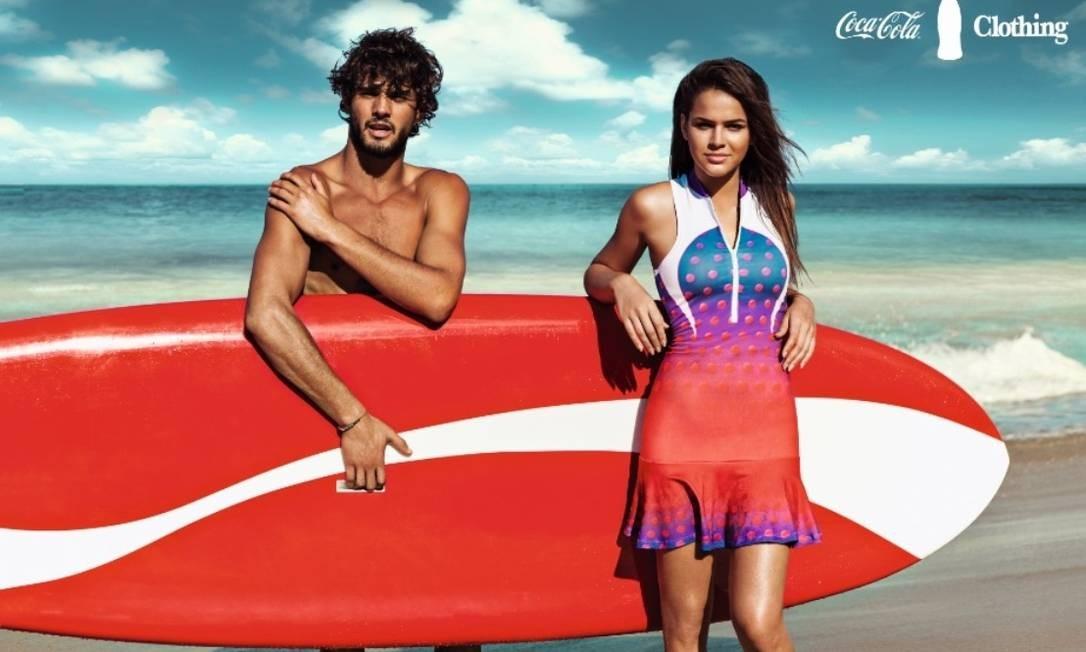 Marlon e Bruna na campanha de verão 2014 da grife Foto: Divulgação