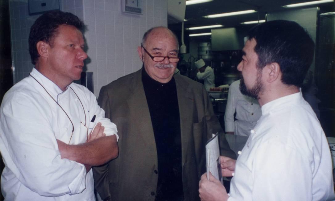 Claude com o pai, Pierre, e o irmão Terceiro / Arquivo Pessoal