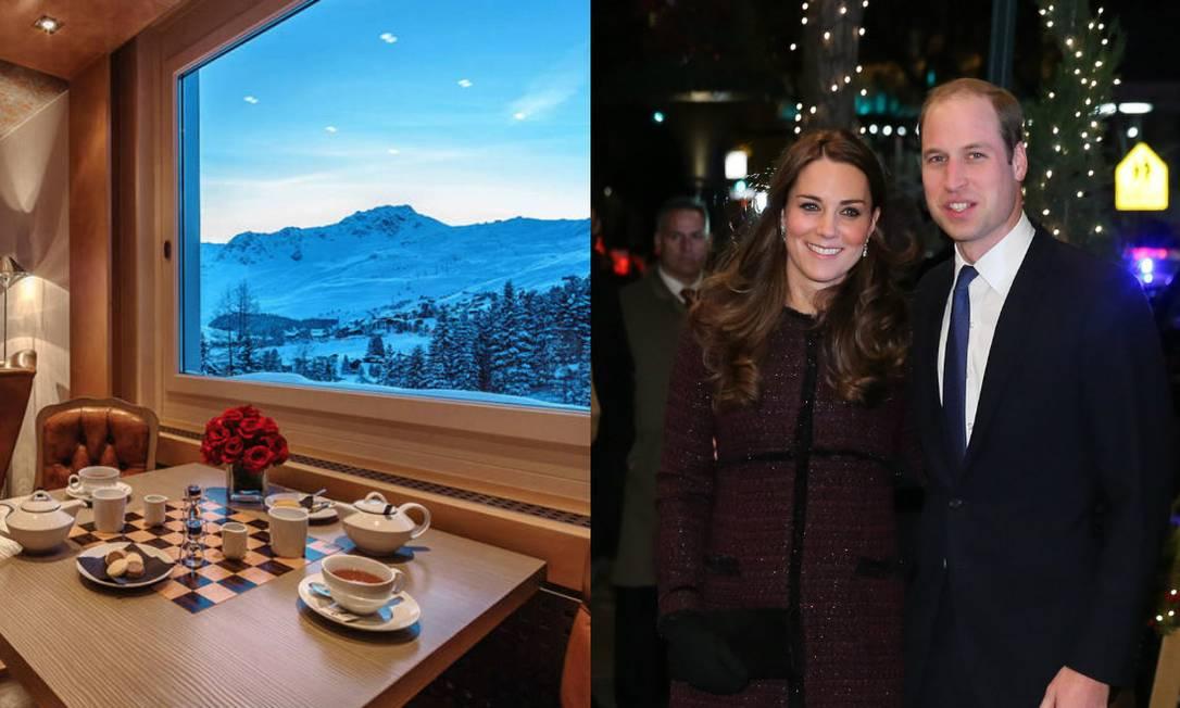 O Tschuggen Grand Hotel, em Arosa, na Suíça, foi o local escolhido pelo casal real William e Kate nas últimas férias para esquiar. O preço por uma noite é de aproximadamente R$ 1,6 mil Divulgação / AFP