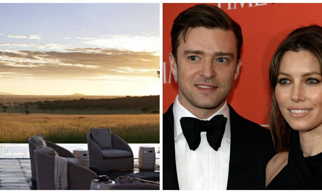 O casal Justin Timberlake e Jessica Biel vai longe quando assunto é relaxamento. Os dois adoram o Singita Serengeti House, na Tanzânia. Há pacotes de viagem de sete dias, com aéreo incluído, pelo preço de US$ 9,7 mil, aproximadamente R$ 25 mil Divulgação / AFP