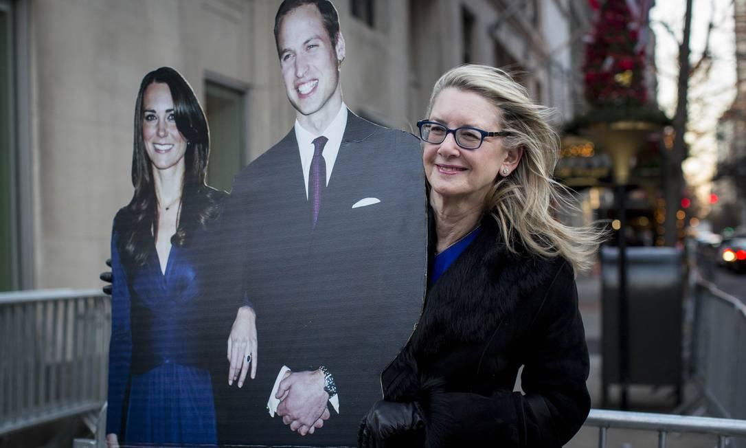 Uma moradora de Nova York, fã do casal real ANDREW KELLY / REUTERS