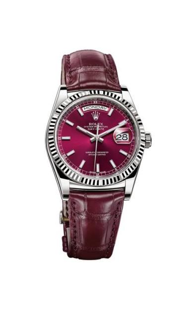 O relógio Oyster Perpetual, da marca Rolex, tem uma interpretação mais viva da cor de 2015 StudioPEP / AP