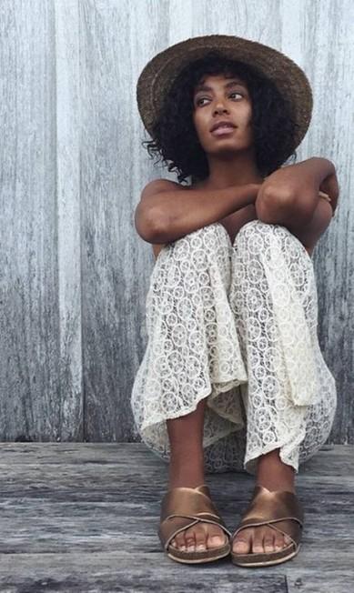 Mais um clique de Solange durante a lua de mel no Brasil Reprodução/ Instagram