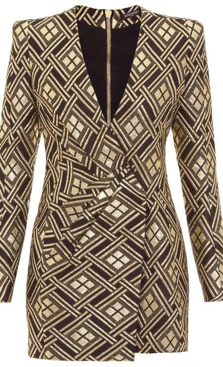 Vestido Balmain. De R$ 12.654 por R$ 3.796,20 na Shop2gether (www.shop2gether.com.br) Foto: Divulgação