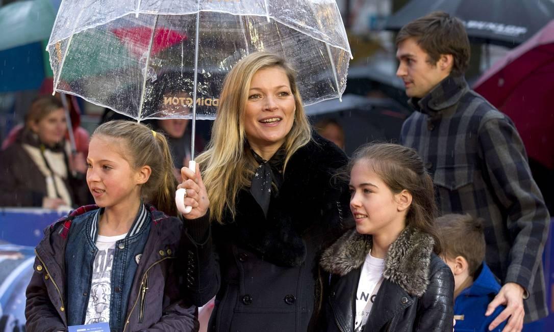 """Lila Grace é filha de Kate com Jefferson Hack, fundador da revista """"Dazed & Confused"""". A menina já revelou que á fã do filme """"O diabo veste Prada"""". ou seja: herdou os genes da moda Foto: JUSTIN TALLIS / AFP"""