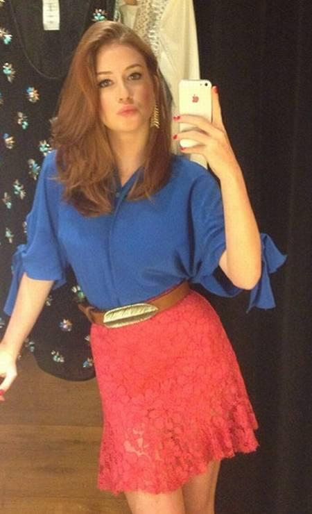 Marina também investe em blocos de cores Foto: Reprodução/ Instagram