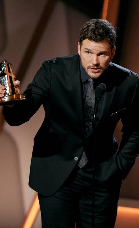 """Na sequência, vem o ator Chris Pratt, que já participou da série """"The O.C."""" e lançou recentemente o filme """"Os guardiões da galáxia"""" Chris Pizzello / Chris Pizzello/Invision/AP"""