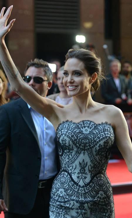 Angelina Jolie no red carpet Foto: PETER PARKS / AFP