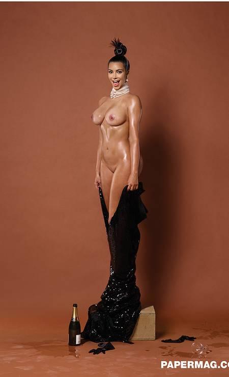 Agora, Kim sem censura Foto: Revista Paper