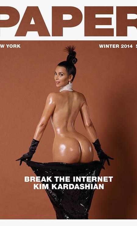 Kim na capa da Paper Foto: Divulgação