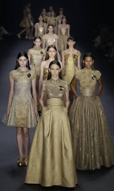 O inverno da Acquastudio veio luxuoso, com o dourado reinando em aplicações Nelson Antoine / AP