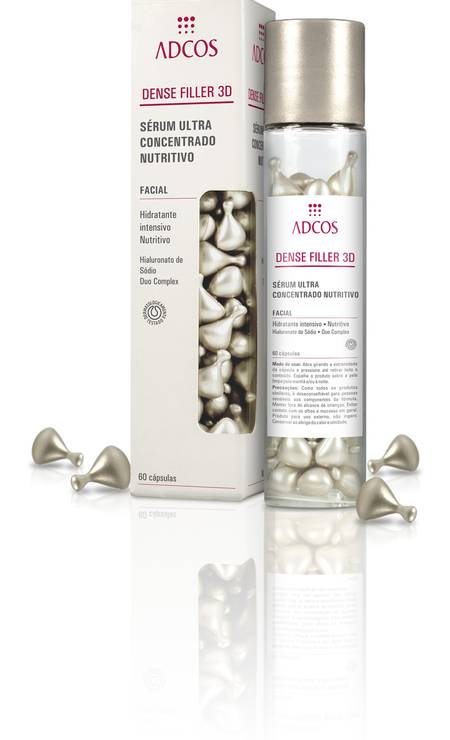 Hidratante intensivo nutritivo com 60 cápsulas, da Adcos (R$ 180) Foto: Divulgação / Divulgação