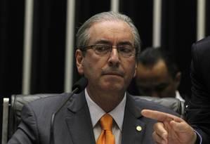 O presidente da Câmara, Eduardo Cunha Foto: Givaldo Barbosa / Agência O Globo