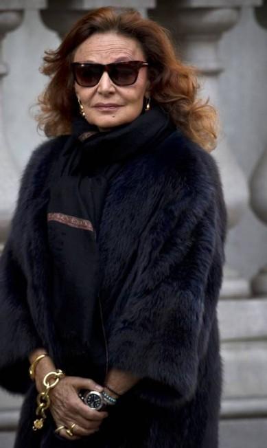 A estilista Diane von Furstenberg, amiga de Oscar CARLO ALLEGRI / REUTERS