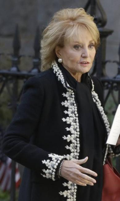 A apresentadora e jornalista Barbara Walters no funeral Frank Franklin II / AP