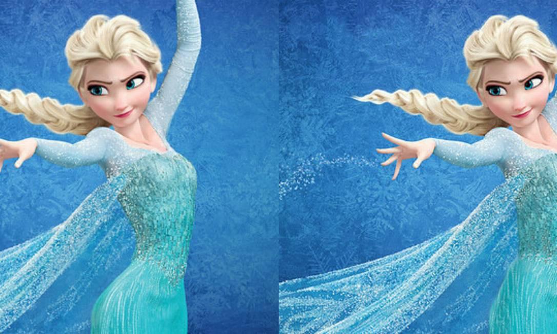 Com uma cintura mais 'real' a rainha da neve Elsa, de 'Frozen', não perde a elegância Montagem com fotos de divulgação