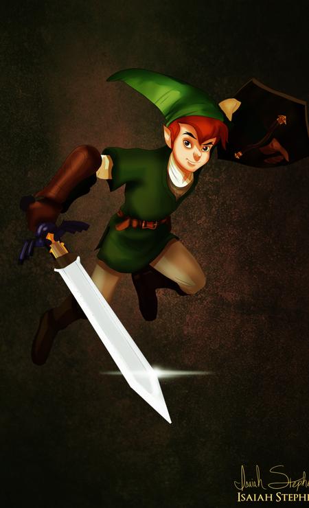 """Peter pan aproveitou o gosto pelo verde para encarnar Link, do videogame """"The Legend of Zelda"""" Foto: Isaiah Stephens"""