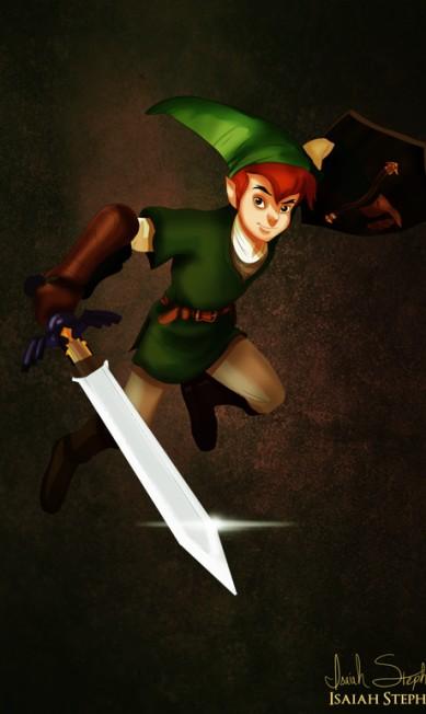 """Peter pan aproveitou o gosto pelo verde para encarnar Link, do videogame """"The Legend of Zelda"""" Isaiah Stephens"""