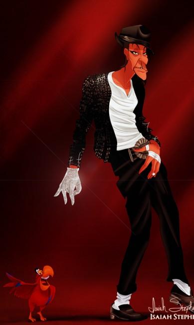 """O vilão de """"Aladdin"""", Jafar, abandonou os planos maléficos para dançar moondance que nem Michael Jackson Isaiah Stephens"""