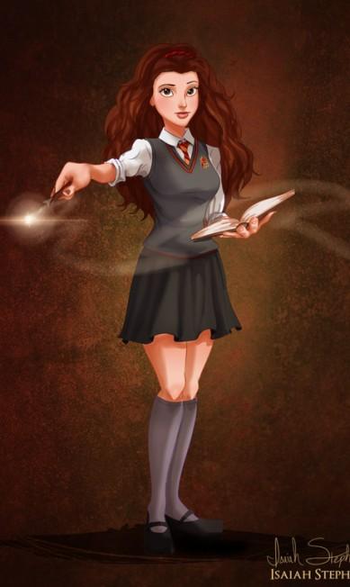 """Leitora ávida, Belle, de """"A bela e a fera"""", encontrou muito em comum com a estudiosa Hermione, de """"Harry Potter"""" Isaiah Stephens"""