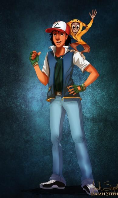 """Aladdin mostrou seu lado nerd e vestiu-se de Ash, protagonista de """"Pokémon"""" Isaiah Stephens"""